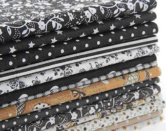 Coupon of 25 patchwork fabric 14 x 20 cm