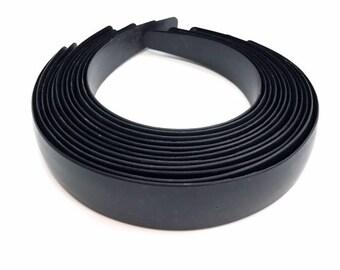 "1"" Black Plastic Headbands (Sold by the Dozen)"