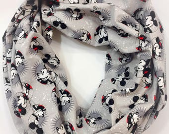 Mickey and Minnie Mouse Single Loop Infinity Scarf