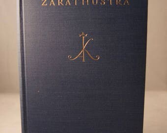 Antique hardcover copy Also Sprach Zarathustra Friedrich Nietzsche German 1930s