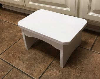 Child's Step Stool in white.