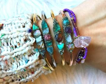 Birthstone Bracelet for Mom, Birthstone Jewelry, Raw Birthstone Jewelry, Customized Birthstone Jewelry, Custom Birthstone Bracelet