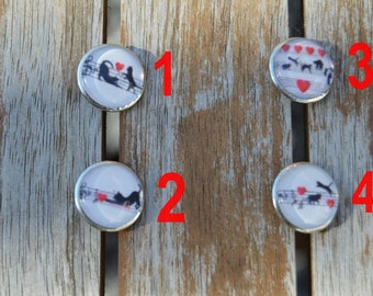 set of 4 cats 16mm lot 1 snap buttons