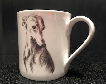 Whippet mug - finebone china