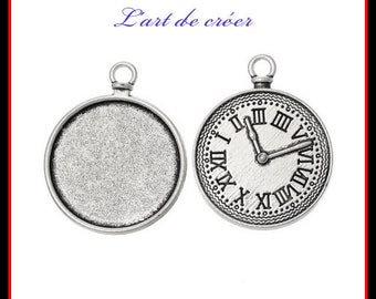 3 x medium cabochon silver fashion watch