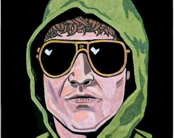 Original Unabomber on Black Velvet Painting