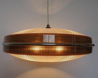 great lamp ROTAFLEX UFO flying saucer 1950 1960's 50's 60's mid century vintage pendant lamp