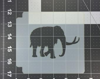 Wooly Mammoth Stencil 100