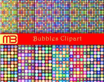 Bubbles set  digital paper pack - printable papers - Instant download - 12x12 inches papers - for home printing - DIY