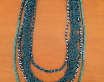 Multi-strand knitted necklace