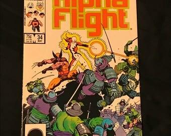 Alpha Flight # 34 Marvel Comics 1st Full Lady Deathstrike Appearance Wolverine Vintage 1986 NM
