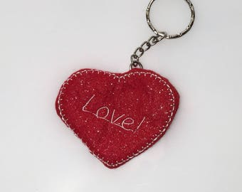 Key ring love red heart love - valentine's day gift idea for him and her