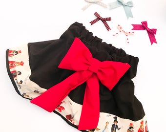 Vintage Alice in Wonderland Skirt- Baby & Toddler Skirt with Attached Bow