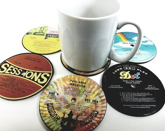 Vinyl Record Coasters For The Music Enthusiast - Vinyl Coasters Hand Crafted From Authentic Vinyl Records To Brighten Your Day And Your Room