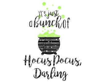 Hocus Pocus Darling Sanderson Sisters SVG Files I put a spell on you Halloween svg file Hocus Pocus Silhouette Circuit Iron On Decal