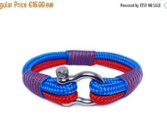 15%OFF Nautical bracelet/Sailor Bracelet/Mens bracelet/mens survival bracelet/surfer bracelet/paracord bracelet/Shackle Bracelet.