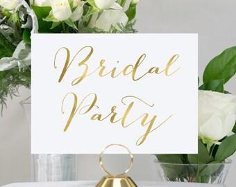 Gold Foil Bridal Party Wedding Sign