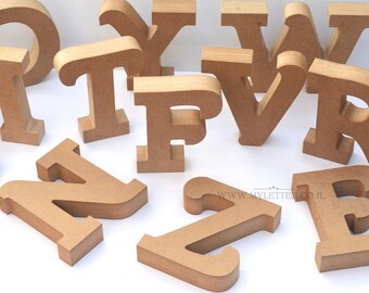 Wooden letters for DIY craft projects | Freestanding Letter | Free standing wooden letters | unpainted letters