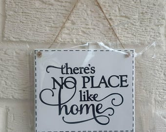 There's No Place Like Home - Wooden Home Gift House warming - House sign wooden plaque