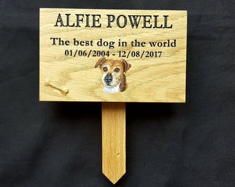 Custom Made Oak Personalised Pet Memorial Sign Wooden Plaque RIP Sign For Dog Cat Rabbit Horse Guinea Pig Fish Hamster Outdoor Garden Sign