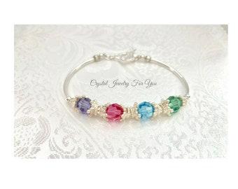 Bridesmaid Bracelet, Mothers Bracelet, Bridal Party Jewelry, Wedding Jewelry