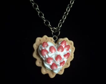 Strawberry Decoden Biscuit Necklace