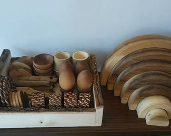 Montessori, Tree Blocks, Stacking Work, Loose Parts, Waldorf