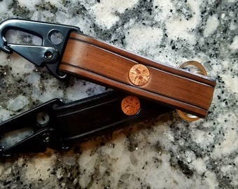 Active Duty Leather Key Chains with H&K Clip
