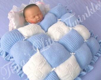 Little Twinkles~BABY BLUESKIES Knitting Pattern~Crib/Small pram size