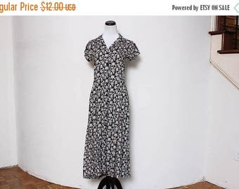 30% OFF VTG 90s Floral Grunge Revival Maxi Oversized Dress S/M