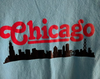 Chicago Baby Blue T-shirt Size S