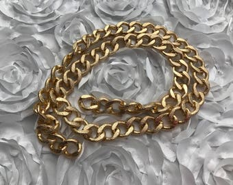 Thick Chunky Gold Chain 31 Inches