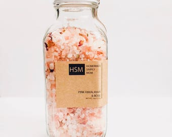 Bath Salts/ Mothers Day Gifts/ Gift for mom/ Gift for her/ Birthday Gift/ Relaxing bath salts/ gifts for women/ Rose Bath salts/ wife gift