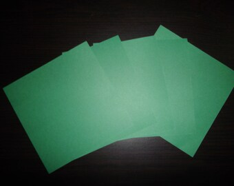 5 paper origami Green 12 x 12 cm