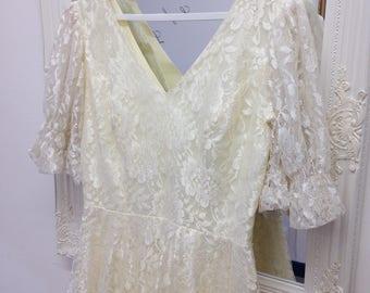 Gatsby wedding dress etsy lace wedding dress short wedding dress gatsby wedding dress peplum 1980s does junglespirit Gallery