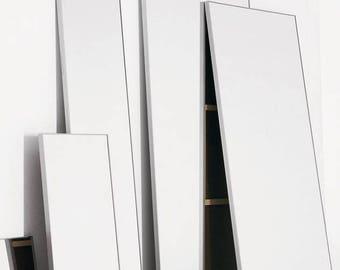 Mirror Mondrian 44 x 80 (design within reach) aluminum used beautiful floor model MODERN