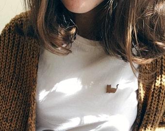 Cat pin, epoxy badge, brooche, fashion accessorie