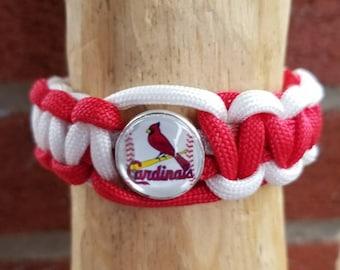St Louis cardinals paracord bracelet