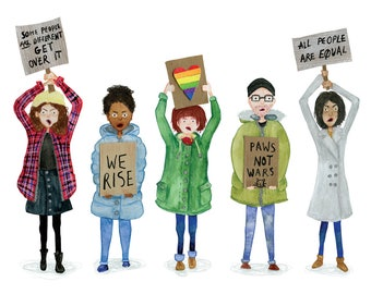 Resist - A6 Card - Fundraising for The Advocates for Human Rights