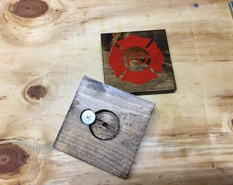 4 Coasters with Bottle Openers