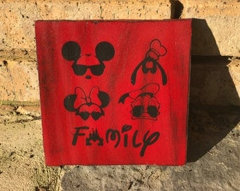 """NEW!! Disney """"Family"""" wooden wall sign!!"""