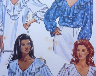 Misses' Top Sewing Pattern. Butterick Pattern 6803. Size 6 - 8 - 10. Fast and Easy. 1993. Vintage Fashion.