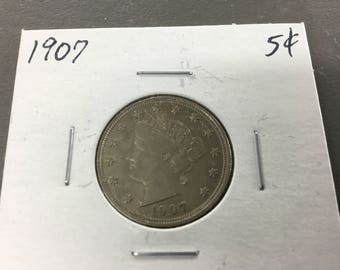 1907 liberty head v nickel