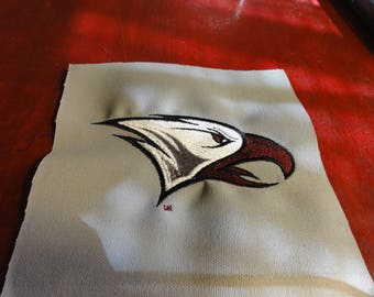 "North Carolina Central University (NCCU) Embroidered Quilt Approx 50""x60"""