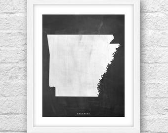 Arkansas Map, Arkansas Print, Arkansas Art, Arkansas State,Minimalist Art, Arkansas Printable,Instant Download, Arkansas Chalkboard Art