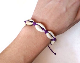 Cowrie Shell Bracelet - Beachy Bracelets - Adjustable Bracelet - Shell Bracelet - Shell Jewelry - Beachy Jewelry, Beach Gifts, Cowrie Shells