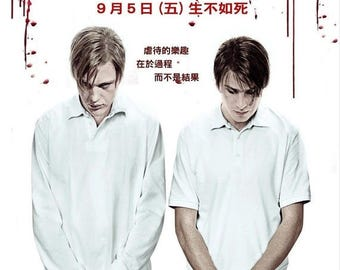 Back to School Sale: FUNNY GAMES Movie Poster Horror Thriller Naomi Watts Rare Japanese