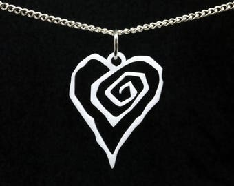 Marilyn Manson Eat Me, Drink Me Heart Acrylic Pendant on Chain. Antichrist Superstar Occult Goth Satanic
