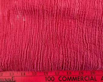 """Hand Dyed Cotton Gauze By Amy Brill Red Cheesecloth American Made 124"""" x 50"""" Notions Fabric Yardage"""