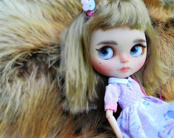 OOAK Blythe Doll Candy, unique custom doll by malinkaartz